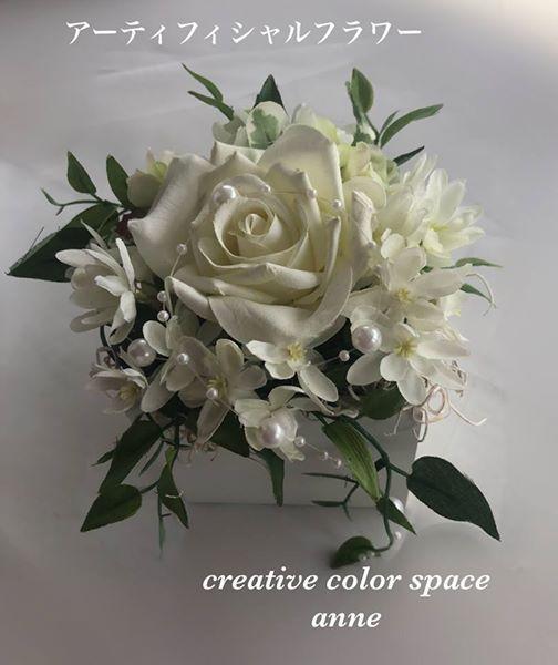 アーティフィシャルフラワーアレンジ#花冠#ウェディングブーケ#パーソナルカラー診断#花冠